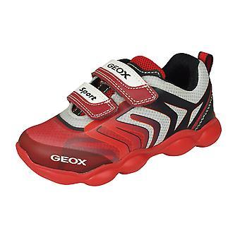 Geox J Munfrey B.A Boys Trainers/Schuhe-Rot und Schwarz
