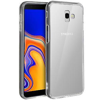 Tough rear clear case + shock absorbing silicone bumper Samsung Galaxy J4 Plus