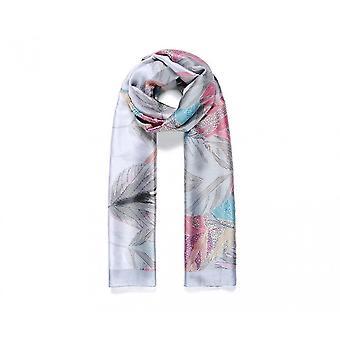 Intrige Womens/Damen Bordered Silk Like Leafy Print Scarf