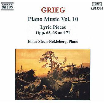 E. Grieg - Grieg: Piano Music, importazione USA Vol. 10 [CD]
