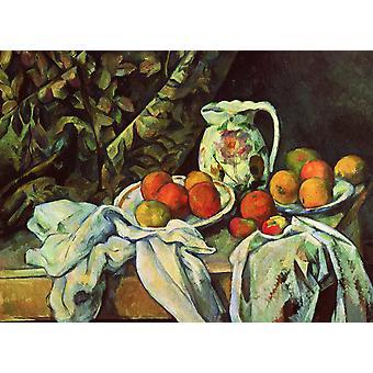 Still Life with Curtain, Paul Cezanne, 50x36cm