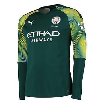 2019-2020 Manchester City Puma Home LS Goalkeeper Shirt (Green)