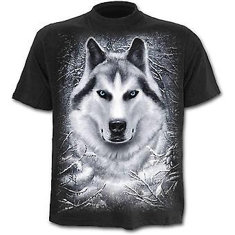 Spiral - white wolf - kids t-shirt