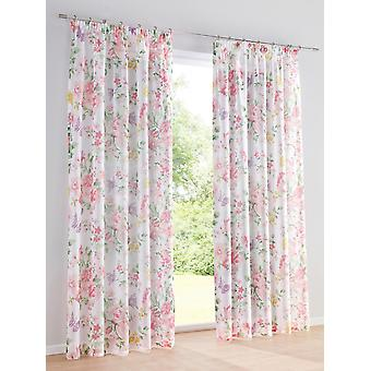 Heine Home 2x Decostore printed with floral design white/colorful suspension with universal strap