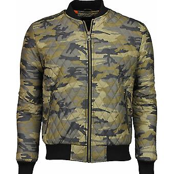 Casual Jack - Army Stitched Bomber Jack - Yellow Black