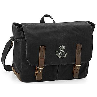 The Rifles - Licensed British Army Embroidered Waxed Canvas Messenger Bag
