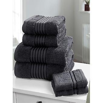 Windsor 6 delige handdoek baal grijs