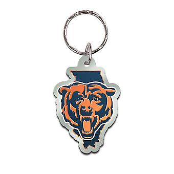 Wincraft STATE Keychain - NFL Chicago Bears