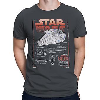 Star Wars Solo Falcon Schemi Uomini's T-Shirt