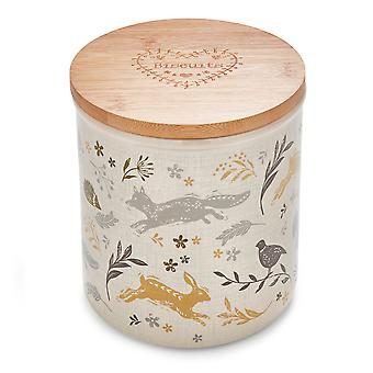 Cooksmart Woodland Ceramic Biscuit Canister