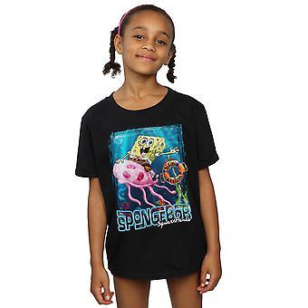 SpongeBob SquarePants Girls Jellyfish Riding T-Shirt