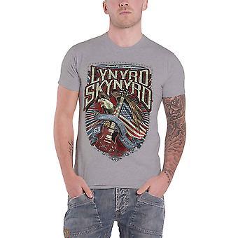 Lynyrd Skynyrd T Shirt Sweet Home Alabama Band Logo new Official Mens Grey