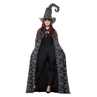 Womens Deluxe Hexer Cape Halloween Fancy Dress Zubehör