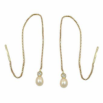 DrawString earrings gold chain earrings 375 Durchzieher, 93 mm bracelet, 9 KT GOLD