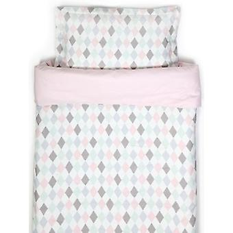 Duvet set Ng Baby Harlequin Pink for trolley-cradle