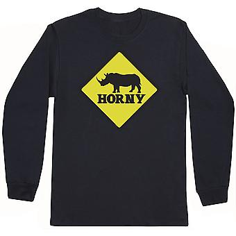 Horny - Mens Long Sleeve T-Shirt