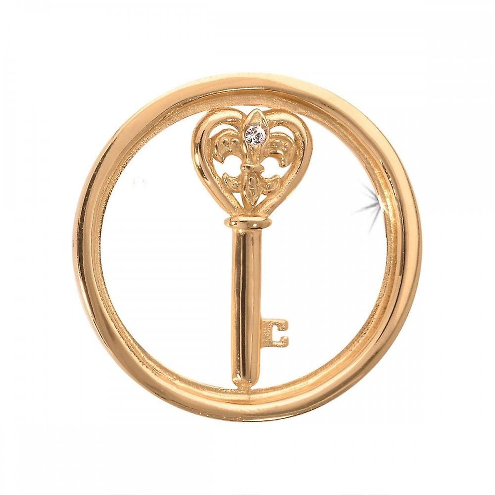 Nikki Lissoni Heart Key Small Gold Plated Coin C1033GS