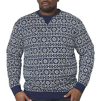Duke D555 Mens Fairisle Nordic Christmas Festive King Size Sweater Jumper Top