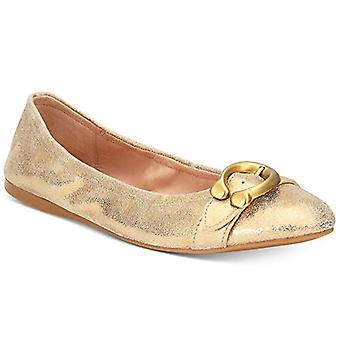 Coach Womens Stanton Ballet Leather Closed Toe Casual Slide Sandals