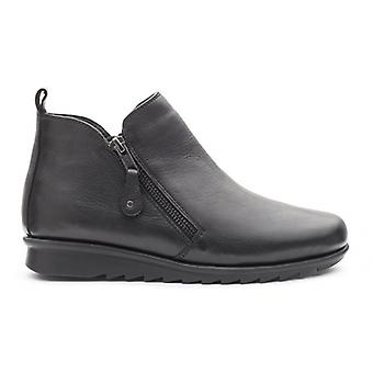 Padders Berry Ladies Leather Wide (e Fit) Ankle Boots Black