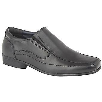 Roamers lasten/poikien nahka Twin Gusset koulu kengät
