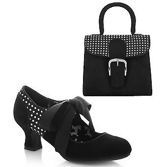 Ruby shoo Women ' s Helena Bootie pumpar & matchande Riva Bag