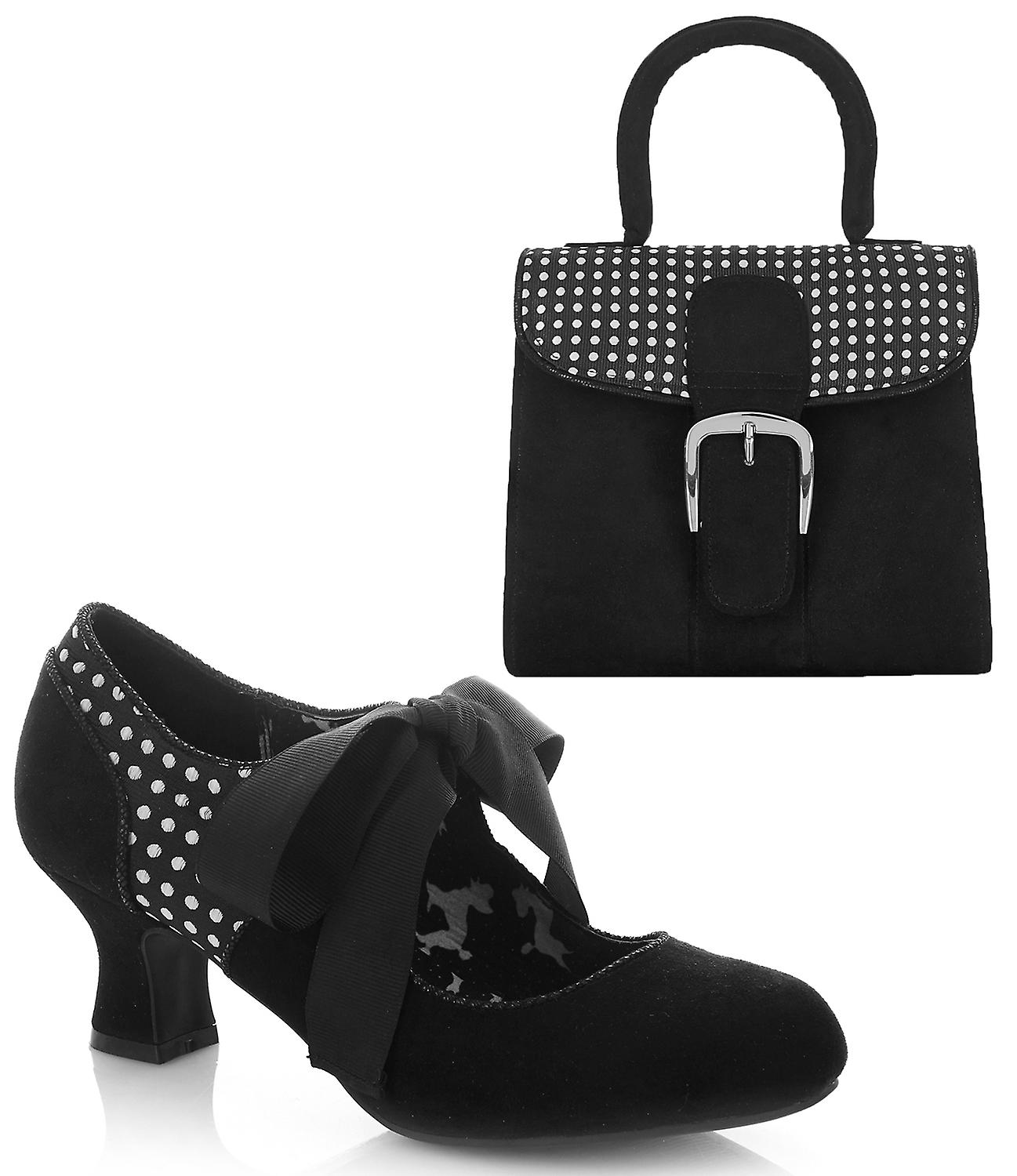 Ruby Shoo Women's Helena Bootie Pumps & Matching Riva Bag LPeTE