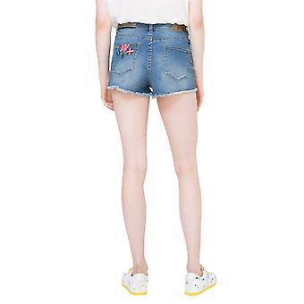 Desigual Women's Ight Waz Embroidered Denim Shorts