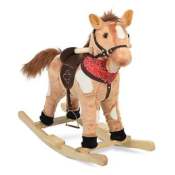 Rocking Horse Plush Thunder WJ-001 Skids, Saddle, Stirrup e Music Function