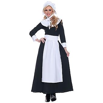 Pilgrim Colonial Victoria Thanksgiving Olden Day Historical Adult Womens Costume