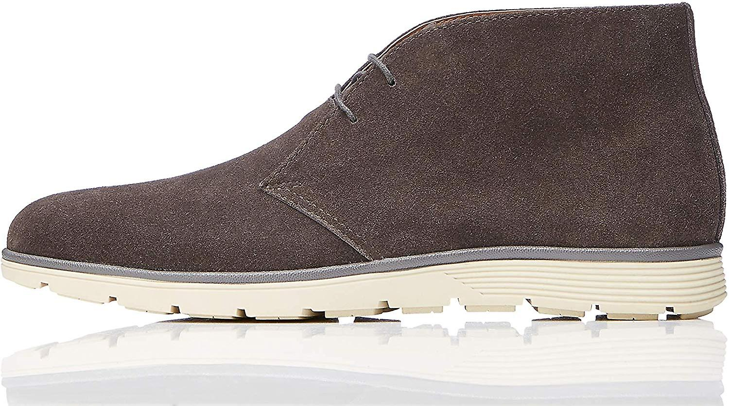 Marque - trouver. Men's Leather Ankle Length Chukka Boots Grey), US 10