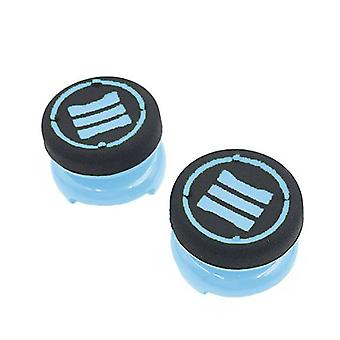 Thumbstick extender grips for sony ps4 controllers tall xl heavy duty non slip analog thumb cap mod - 2 pack light blue | zedlabz