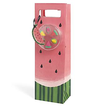 NOD Products 'Watermelon' Wine Bag With Glass Markers