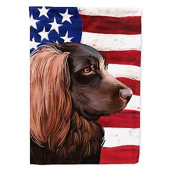 Boykin Spaniel Dog American Flag Flag Canvas House Size