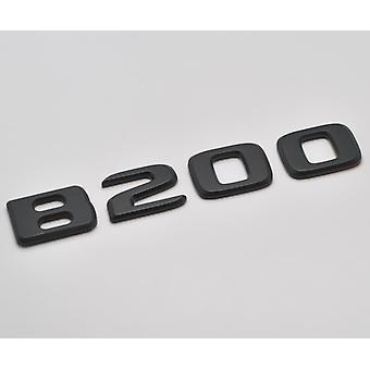 Matt svart B200 flat Mercedes Benz bil modell bakre støvel nummer brev klistremerke merket emblem for B klasse W245 W246 W247 AMG