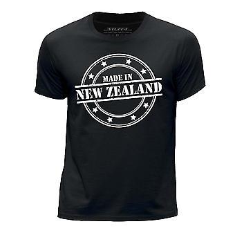 STUFF4 Boy's Round Neck T-Shirt/Made In New Zealand/Black