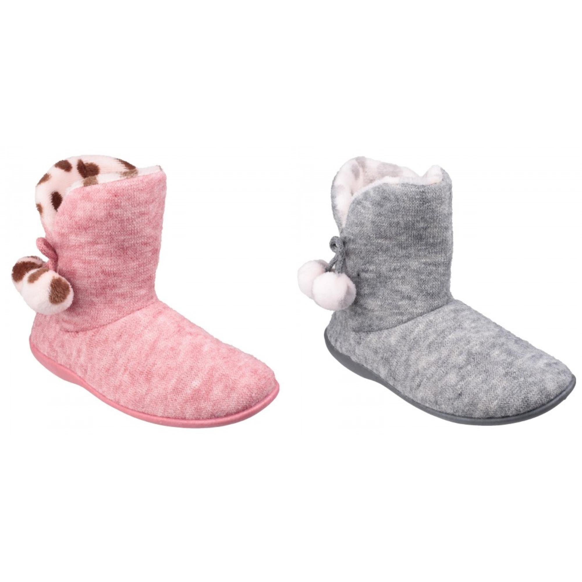 Mirak Womens/Ladies Limoges Pom Pom Slipper Booties q0ML7
