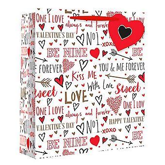 Eurowrap Love Sketch Gift Bags (Pack of 12)