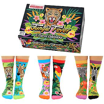 United Oddsocks Women's Jungle Fever Socks Gift Set
