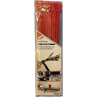 FASTECH® E7-2-530-B10 Koukku- ja silmukkakaapelisolmio koukku- ja silmukkatyyny (L x W) 200 mm x 7 mm Punainen 10 kpl