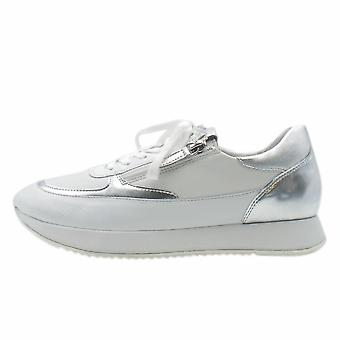 Högl 7-10 1329 The Cloud Lace Up Sneakers In White/silver
