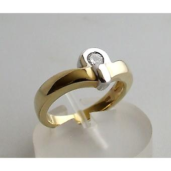 Christian yellow gold ring with diamond