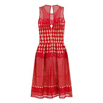 Little Mistress Womens/Ladies Geometric Crochet Prom Dress