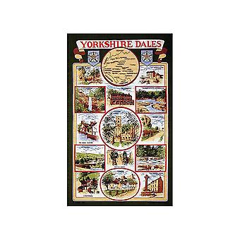 Stow Green Yorkshire Dales Green Tea Towel