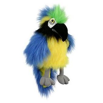 Il bambino di compagnia burattini uccello burattino ara blu e oro
