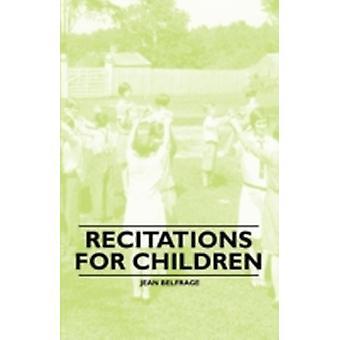 Recitations for Children by Belfrage & Jean