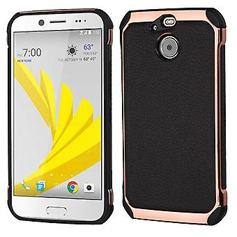 ASMYNA Astronoot Case for Bolt - Black Lychee Grain(Rose Gold Plating)/Black