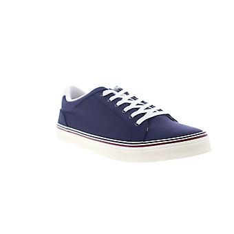 Original Penguin Colt  Mens Blue Canvas Lace Up Low Top Sneakers Shoes