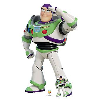 Buzz Lightyear Saluting  Official Disney Toy Story 4 Lifesize Cardboard Cutout / Standee