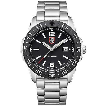 Luminox Pacific Diver Quartz Black Dial Silver Steel Oyster Bracelet Men's Watch XS.3122